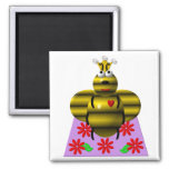 Cute queen bee on a quilt fridge magnets