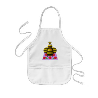 Cute queen bee on a quilt kids' apron