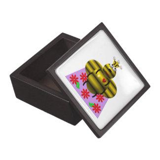Cute queen bee on a quilt premium keepsake box