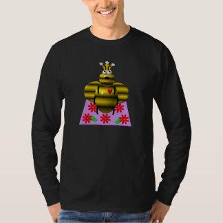 Cute queen bee on a quilt shirt