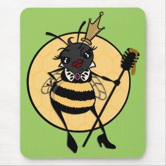 CUTE QUEEN BEE VERTICAL MOUSE PAD