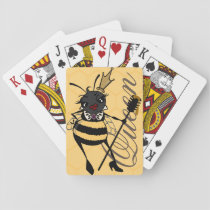 CUTE QUEEN BEE WITH HONEYCOMB PLAYING CARDS