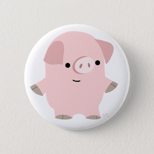 Cute Quiet Cartoon Pig Button Badge
