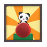 Cute Quirky Panda Bear Gift Present for Fans Girl Premium Jewelry Box
