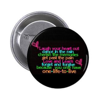 Cute quote button black
