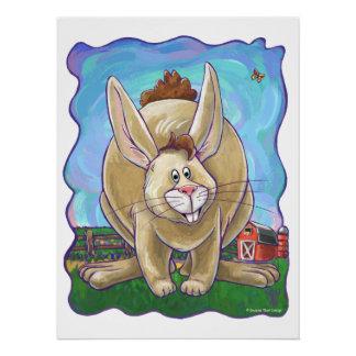 Cute Rabbit Animal Parade Poster