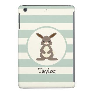 Cute Rabbit, Bunny on Light Sage Green iPad Mini Cover