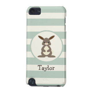 Cute Rabbit, Bunny on Light Sage Green iPod Touch (5th Generation) Case