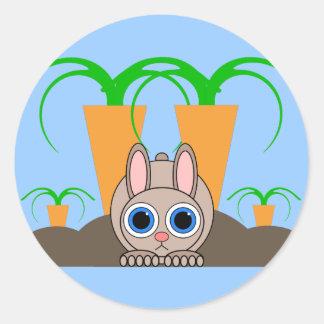 cute rabbit classic round sticker
