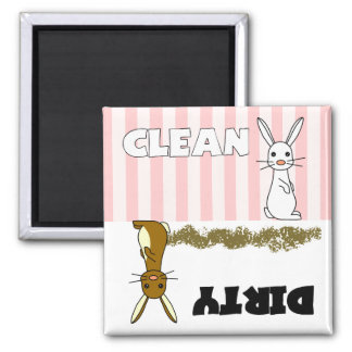 Cute Rabbit Clean / Dirty Dishwasher Magnet