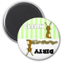 Cute Rabbit Clean / Dirty Dishwasher Magnet