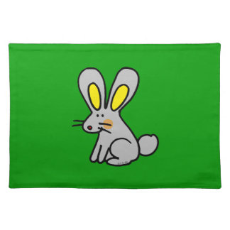 Cute rabbit cloth placemat