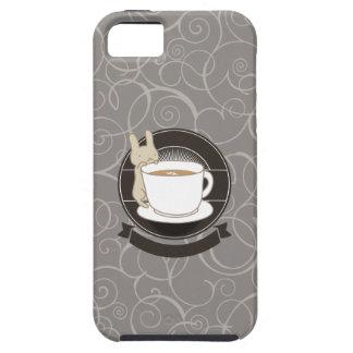 Cute Rabbit & Coffee Cup iPhone 5 Case