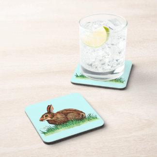 cute rabbit cork coaster
