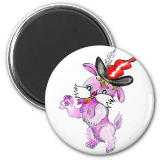 Cute Rabbit Drawing 2 2 Inch Round Magnet