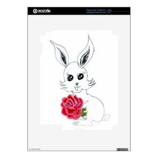 Cute Rabbit Drawing iPad 2 Decal