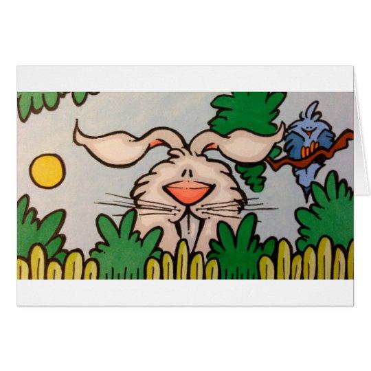cute rabbit illustration card