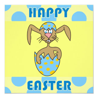 Cute Rabbit in Egg Easter Party Invitations