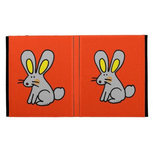 cute rabbit iPad folio cover