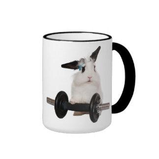 Cute Rabbit Lop Ringer Coffee Mug