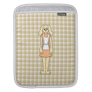 Cute rabbit on a check background. iPad sleeve