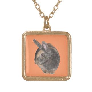 Cute Rabbit Photo Necklace.