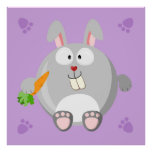 Cute Rabbit Posters