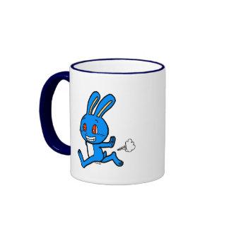 Cute rabbit running ringer mug