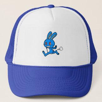 Cute rabbit running trucker hat