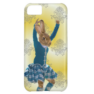 Cute rabbit Scottish highland dancer Case For iPhone 5C