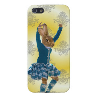 Cute rabbit Scottish highland dancer Case For iPhone SE/5/5s