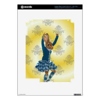 Cute rabbit Scottish highland dancer iPad 3 Skins