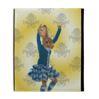 Cute rabbit Scottish highland dancer iPad Folio Case