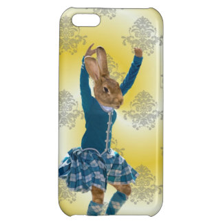 Cute rabbit Scottish highland dancer iPhone 5C Cases