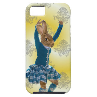 Cute rabbit Scottish highland dancer iPhone SE/5/5s Case