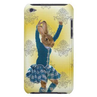 Cute rabbit Scottish highland dancer iPod Case-Mate Case
