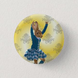 Cute rabbit Scottish highland dancer Pinback Button