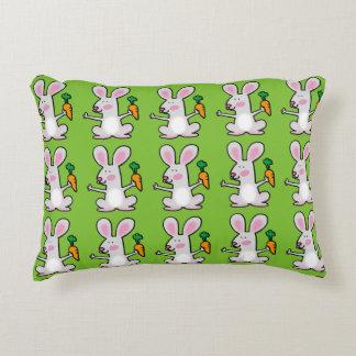 Cute rabbit with a orange carrot decorative pillow