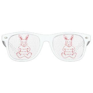 Cute Rabbit with I m So Cute Text Banner Retro Sunglasses