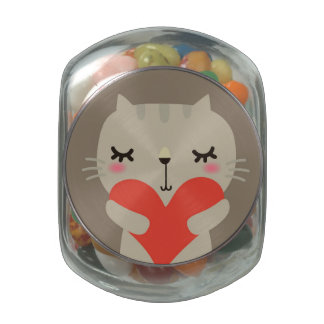 Cute rabbit with love jelly belly candy jar