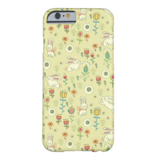 Cute Rabbits and Flowers iPhone 6 Case
