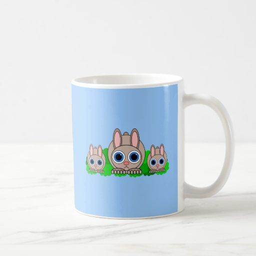 cute rabbits mug