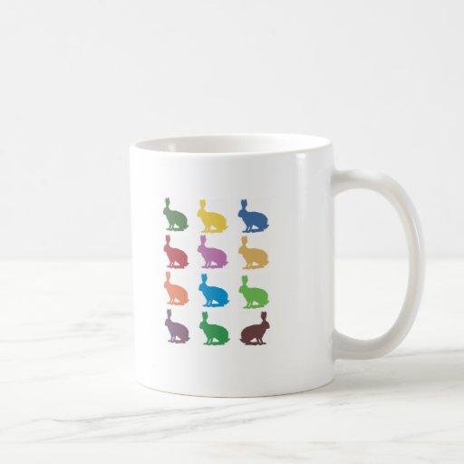 Cute Rabbits Pop Art Gifts Coffee Mug