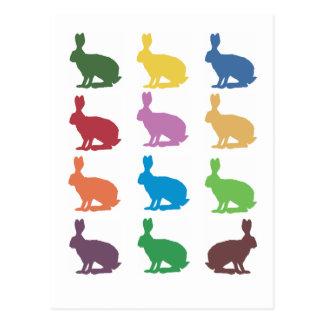 Cute Rabbits Pop Art Gifts Post Card