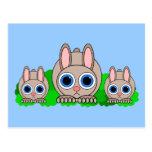 cute rabbits post card