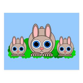 cute rabbits postcard