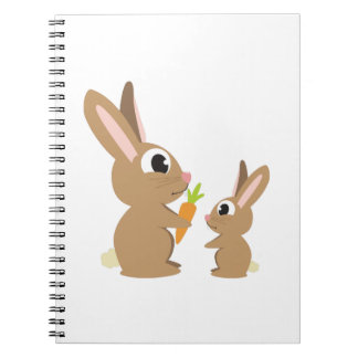 Cute Rabbits Spiral Note Books