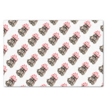 Cute Raccoon Blowing Kisses Love Hearts Animal Tissue Paper