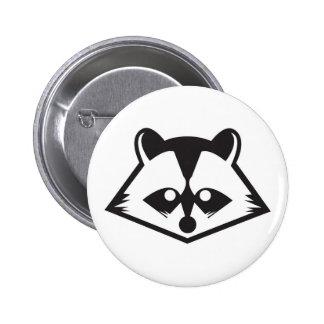 Cute Raccoon Button