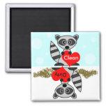 Cute Raccoon Clean / Dirty Dishwasher Magnet